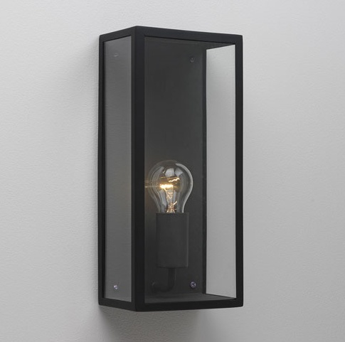 Simple Black Wall Lights : Simple Tall Black Exterior Wall Light H:350mm