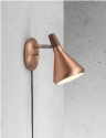 Oiled Walnut Wall Light Brushed Copper or Steel