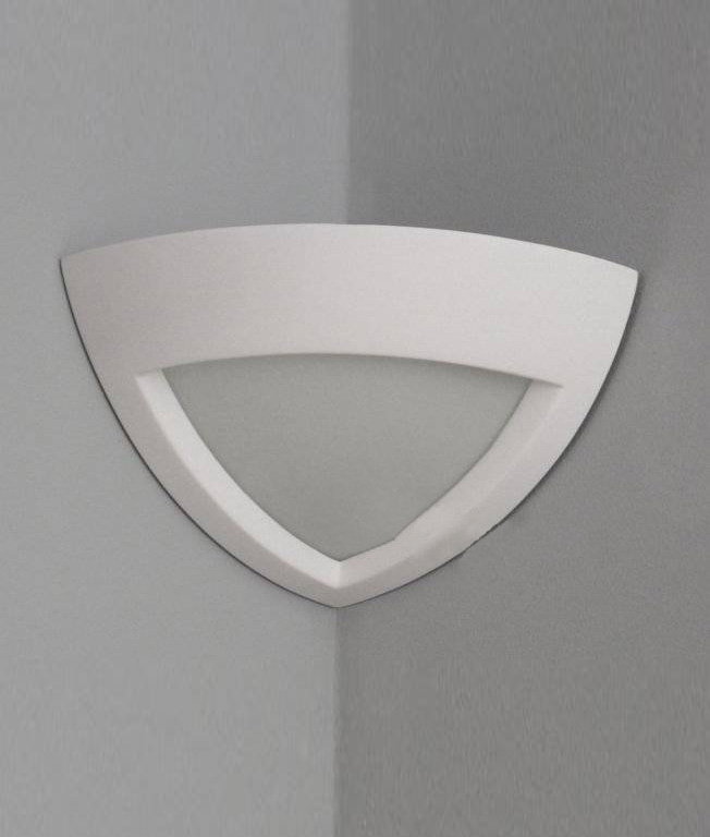 Plaster Corner Wall Light