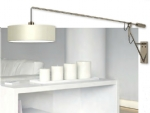 Satin Nickel Counterbalance Light with Shade