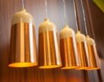 Glaze Cream & Copper Pendants