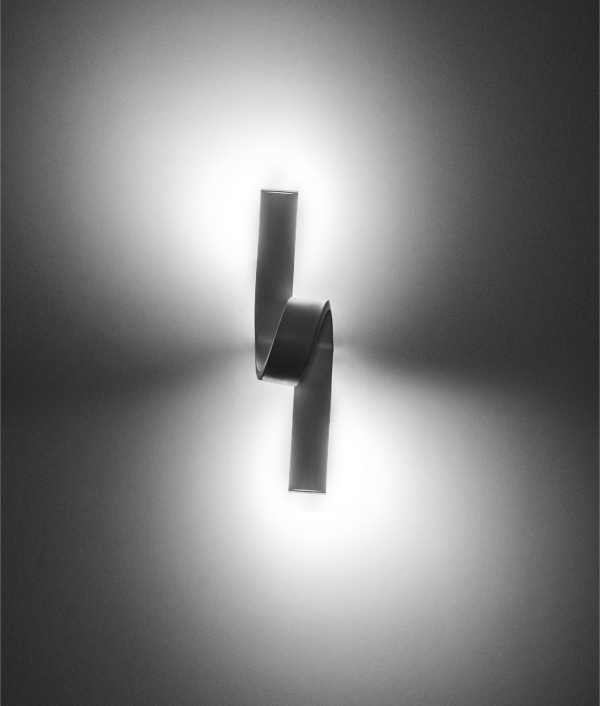 Curl LED Wall Light - White or Cement Grey