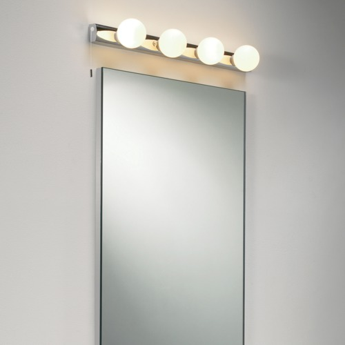 Dressing Room Mirror Light Opal Glass Globes