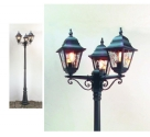Leaded Glass Lamp Post with 3 Lanterns- Saving you �30.99
