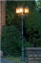 Traditional Exterior Triple Lamp Post