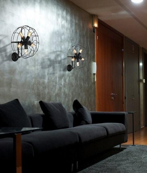 Vintage Fan Style Wall Light - LED Lamps