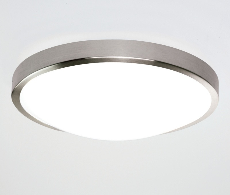 Flush Bathroom Ceiling Light - Chrome