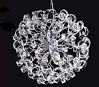 Cosmo 6 Light Moulded Clear Glass Pendant