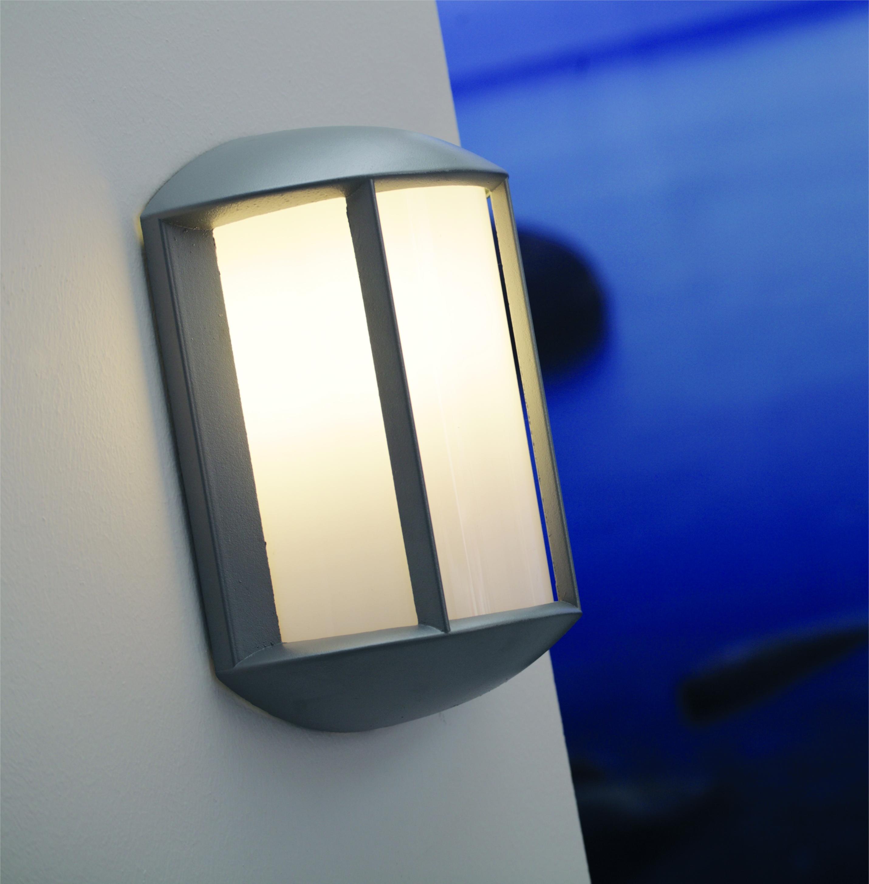 Exterior Wall Light - Black or Grey Finish