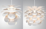 Open Flower Metal & Polycarbonate Light