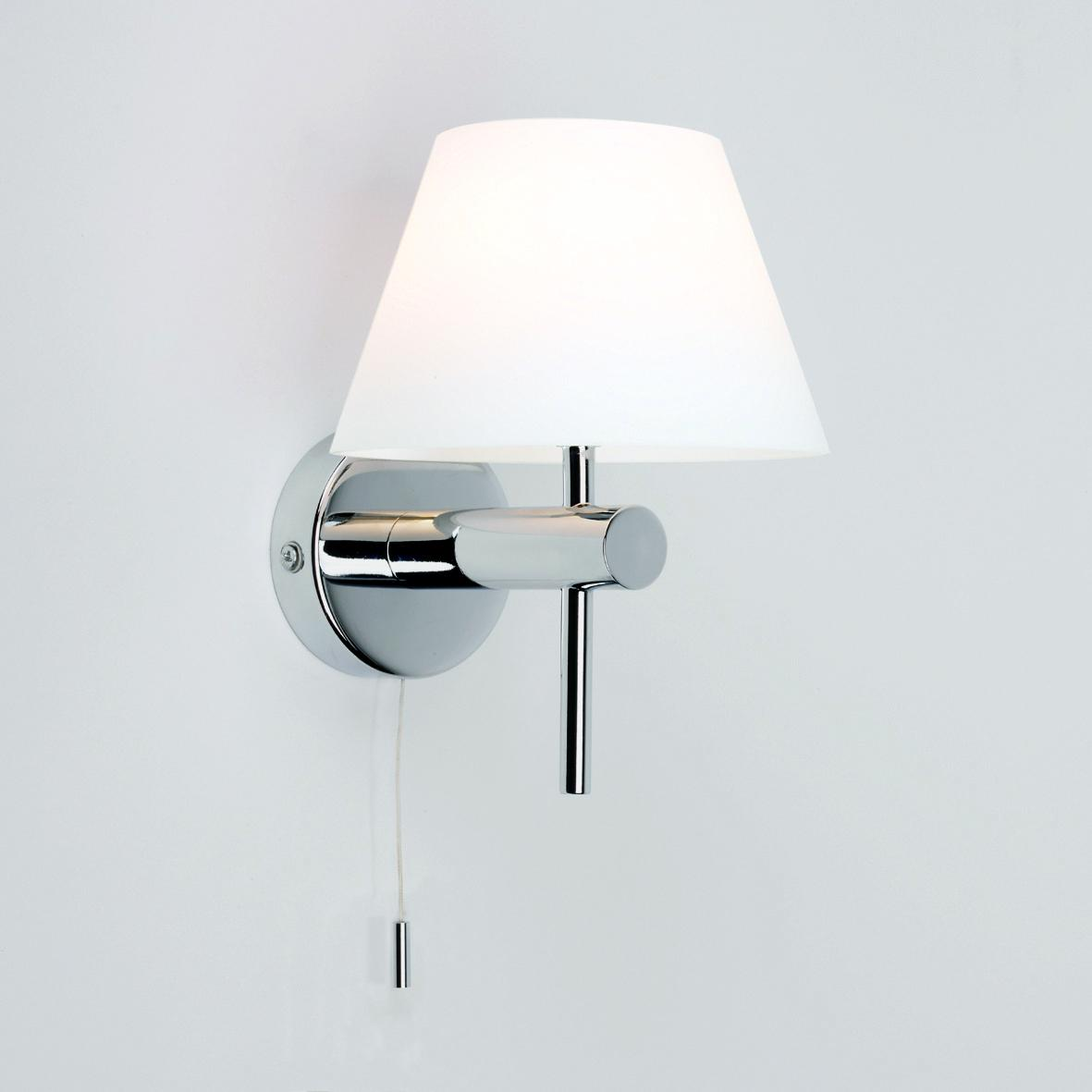 Bathroom Wall Sconces With Shades : Bathroom Wall Light Coolie Shade - Pullcord