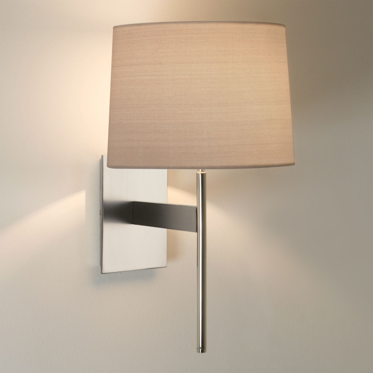 Wall Light Shades Only : Elegant Wall Light with Fabric Shade