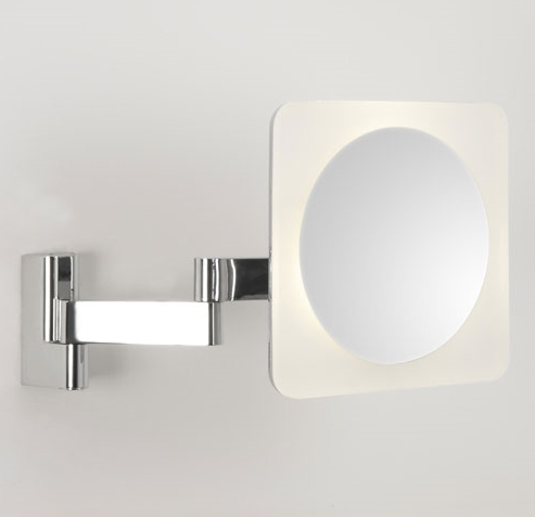 chunky framed square vanity mirror. Black Bedroom Furniture Sets. Home Design Ideas