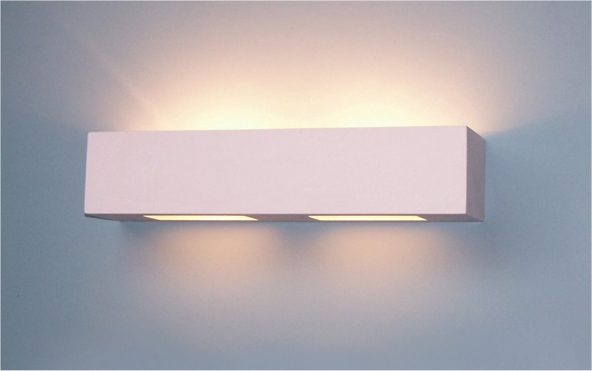 White Box Wall Lights : Lighting Out Of The Box: Plaster Wall Light