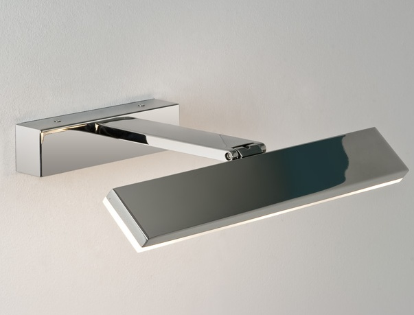 Led bathroom mirror light with adjustable head for Bathroom lights above mirror