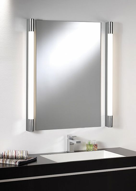 over mirror light half round. Black Bedroom Furniture Sets. Home Design Ideas