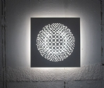 Inner Circle Patterned Plaster Wall Light