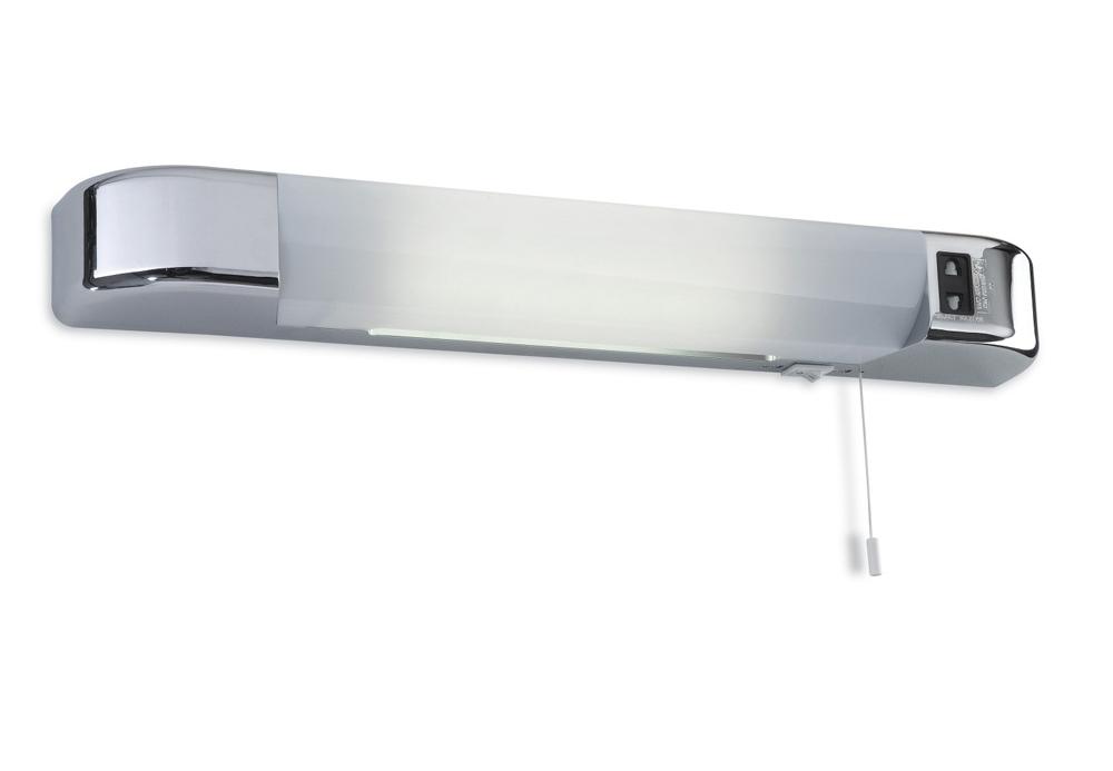 Knightsbridge White Dual Voltage Ip20 Bathroom Shaver: LED Dual Voltage Shaver Light 8w