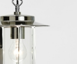 Modern Exterior Pendant with Clear Glass