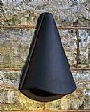Conical Exterior Wall Light - Black