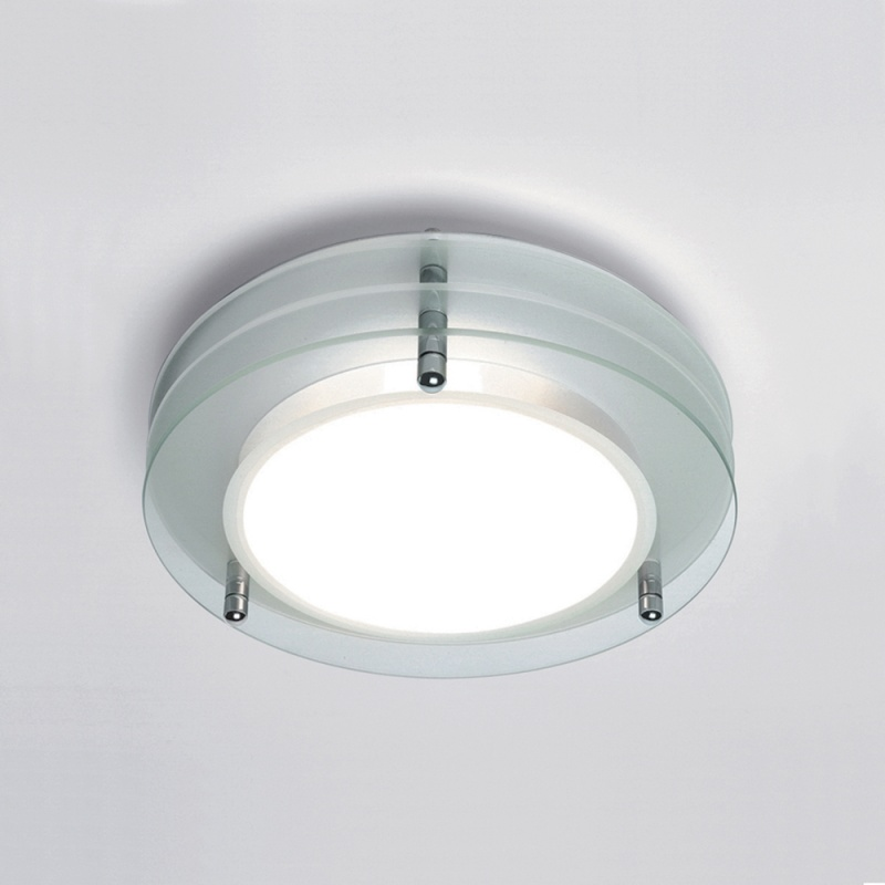 Round Bathroom Light With Layered Glass