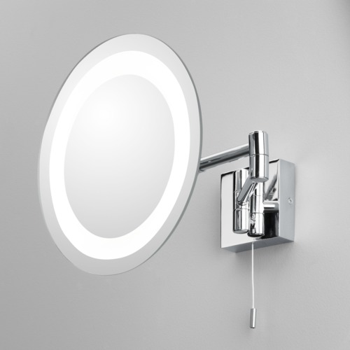 bathroom vanity mirror halogen round