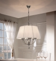 Round Pendant Light - Aged Silver Finish