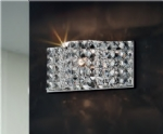 Curved Crystal Wall Light