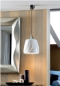 Single Glossy White Shade Pendant