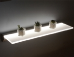 LED Opal Illuminated Shelf