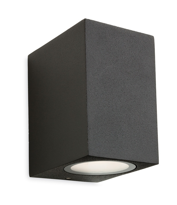 LED Graphite Square Exterior Wall Light