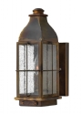 Brass & Reeded Glass Wall Lantern - 3 Sizes