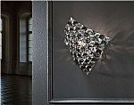 Clear & Smoked Glass Chrome Wall Light