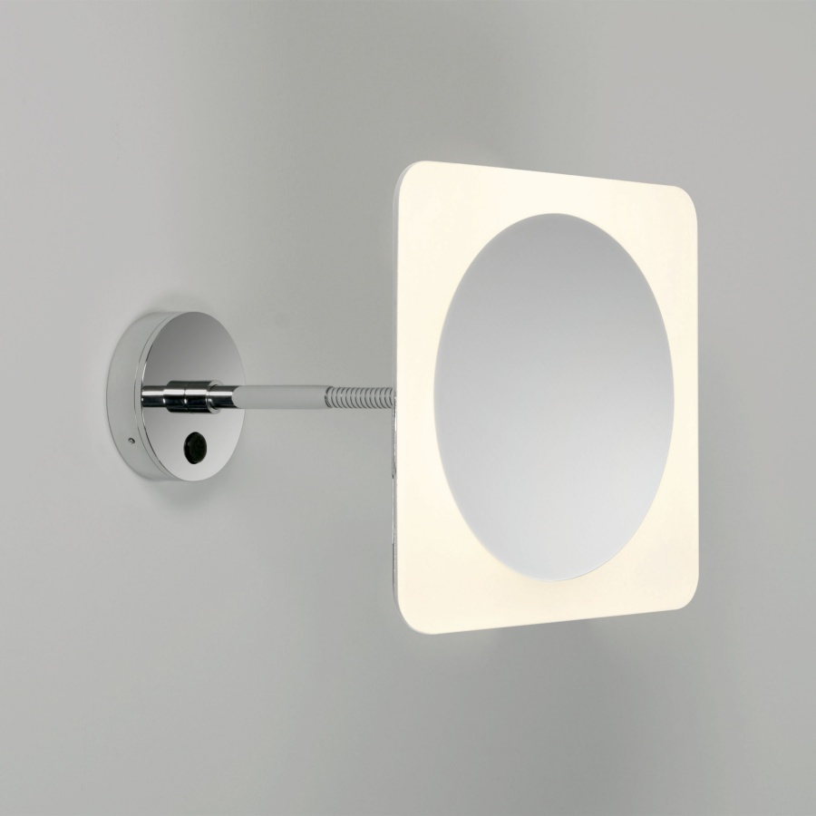 square leds magnifying mirror