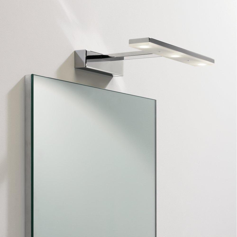 Adjustable Bathroom Wall Mirrors: LED Bathroom Mirror Light With Adjustable Head