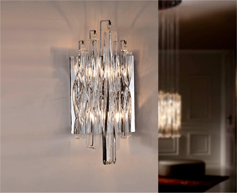 Wall Mounted Lamps Argos : Swirl Glass Wall Light