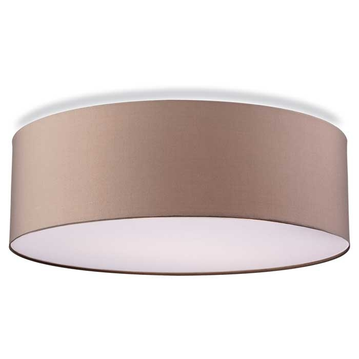 Fabric Flush Drum Shade with Diffuser : taupedrumpendantshade1 from lightingstyles.co.uk size 700 x 700 jpeg 29kB