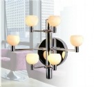 Tiered Chrome & Glass Wall Light