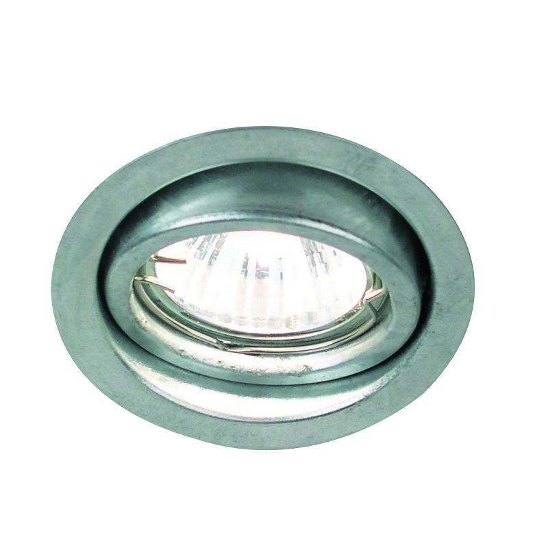mains tilt downlight in galvanised steel