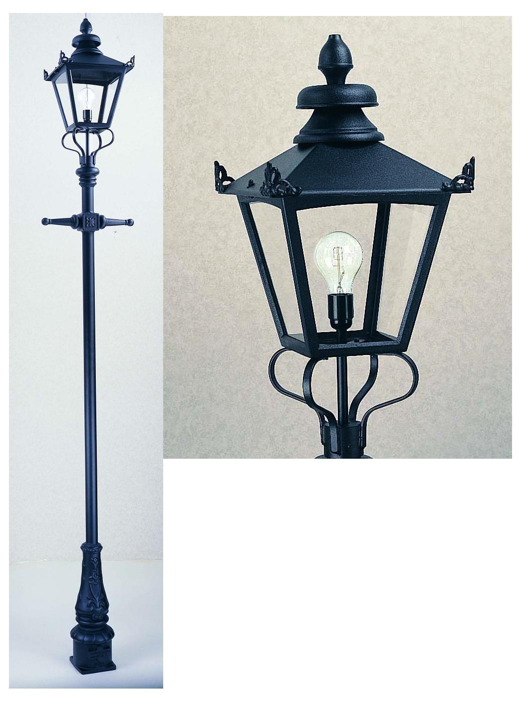 victorian scroll post lantern