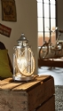 Fisherman Table Lantern with Rope Handle
