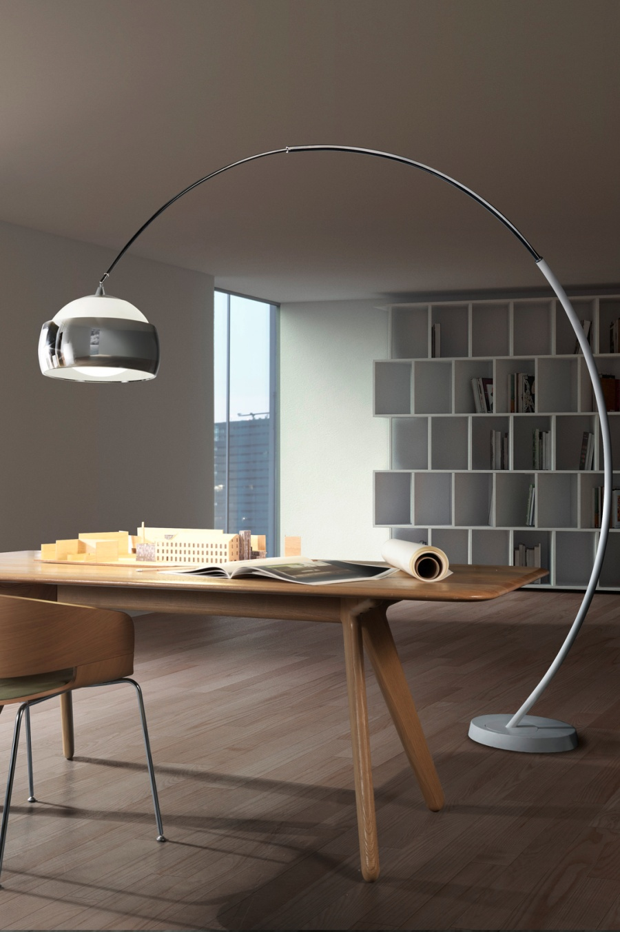 Large Hoop Floor Lamp 2275mm Reach