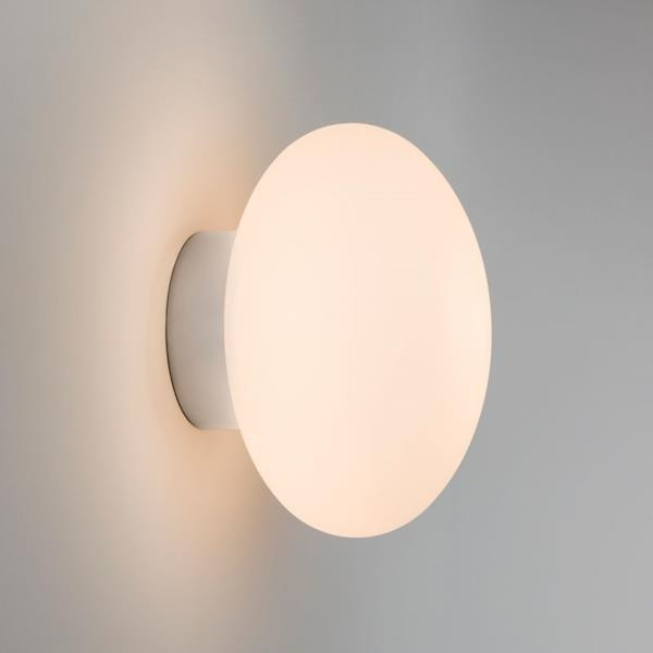 Small Led Wall Lights : Small Glass Bathroom Wall Light