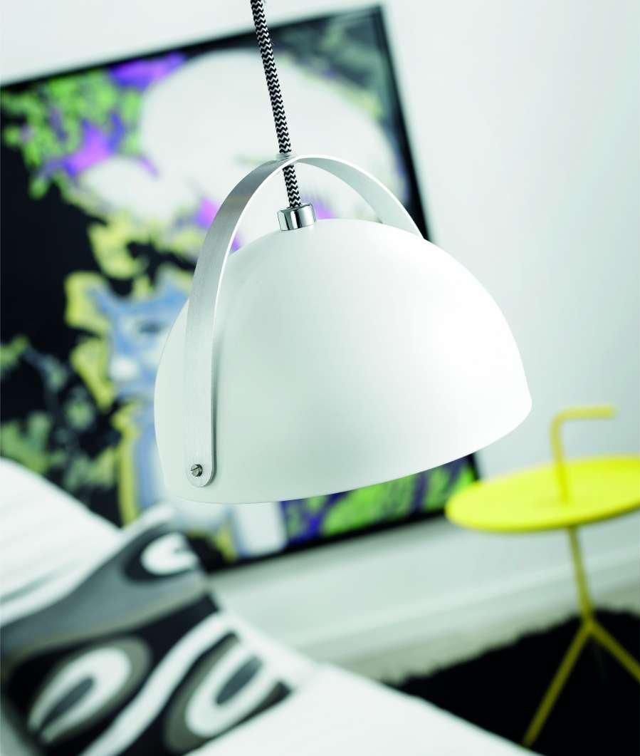 Metal Pendant Light � 300mm - White- Saving you �20.02