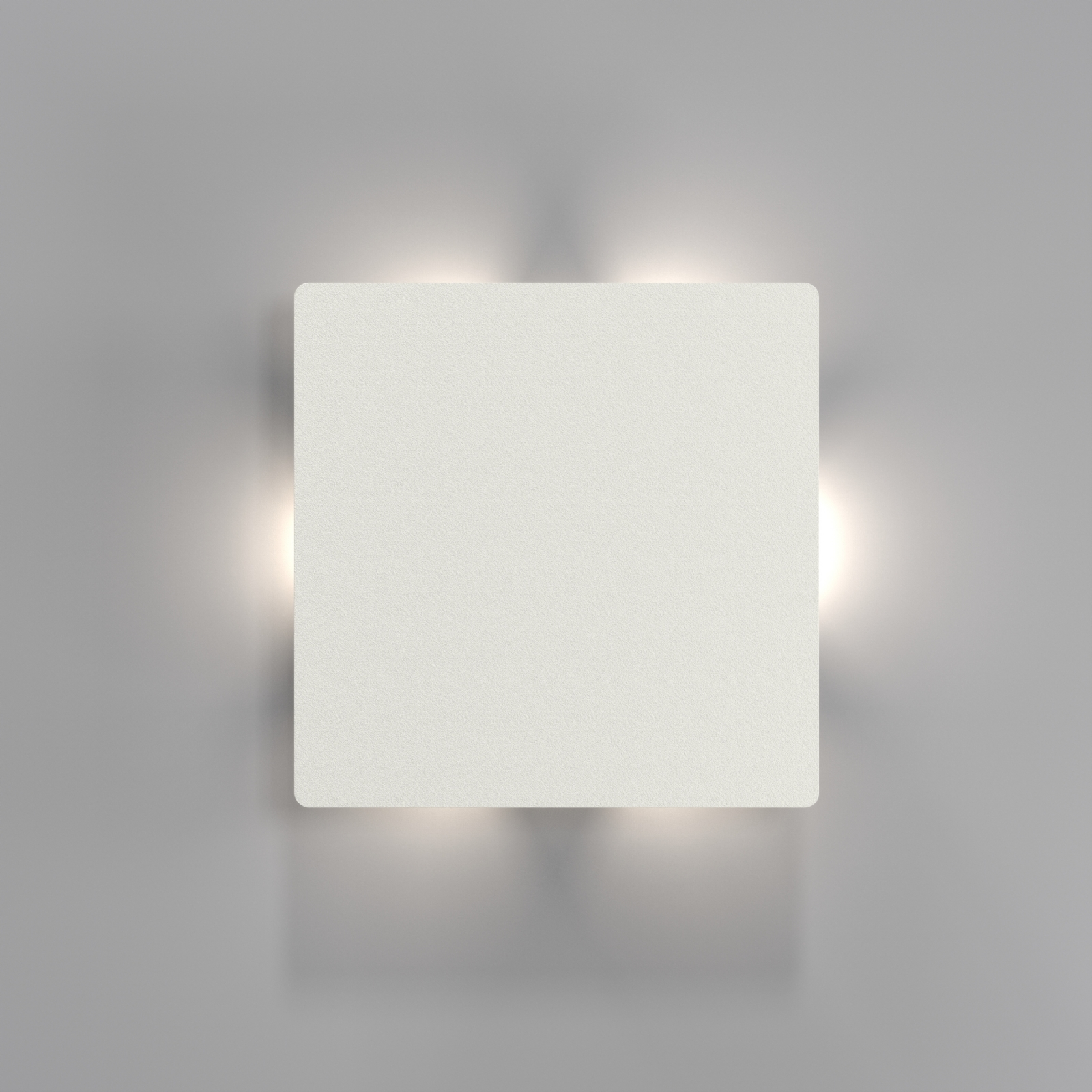 Square Led Wall Light Ip44 3 Light Patterns