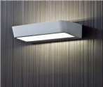 LED Matt White Metal Wall Light
