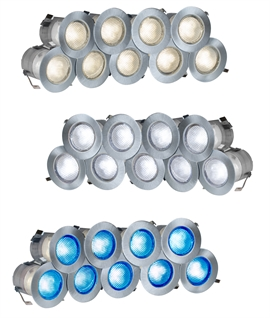 Stainless Steel 10 Light LED Kit - Easy Plug & Socket Daisy-Chain Installation