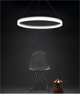 Circular Ring LED Pendant - Remote Control Optional