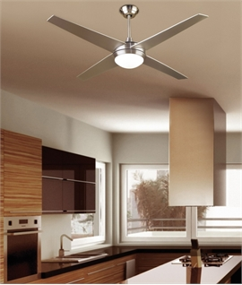 Modern 4 Blade Ceiling Fan with Light