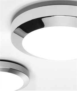 Round Light in Chrome with Opal Glass IP44 Rated